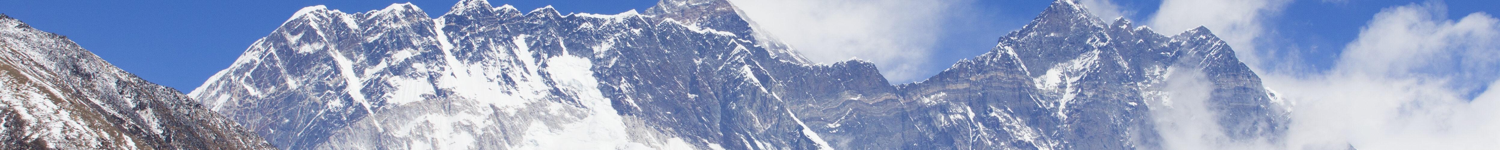 Lhotsevæggen og Mount Everest